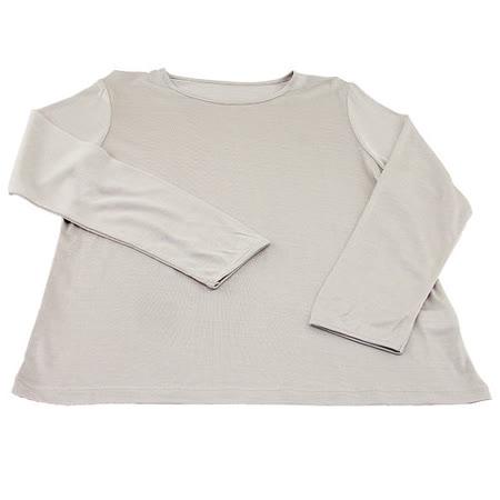 岱妮蠶絲 - (EZ3060S)兒童長袖衛生衣(銀灰)