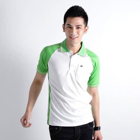 【遊遍天下】男款抗UV吸濕排汗機能POLO衫NS004綠