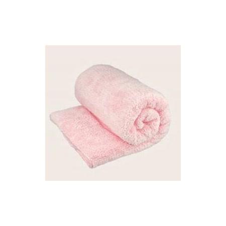 Bonne Nuit雪柔綿寶寶浴巾/枕巾 (90x50cm) 淡粉色