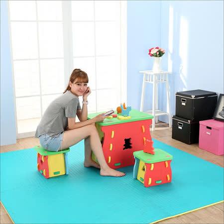 EVA兒童遊戲一桌二椅組