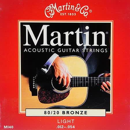 【美佳音樂】Martin M140 民謠吉他套弦(12-54)