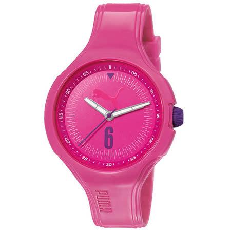 PUMA 舞動青春輕量運動腕錶-桃紅