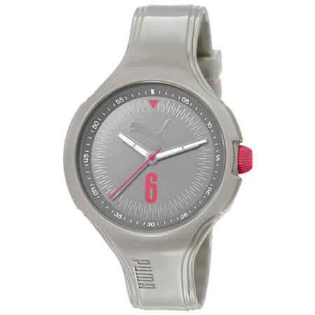 PUMA 舞動青春輕量運動腕錶-淺灰