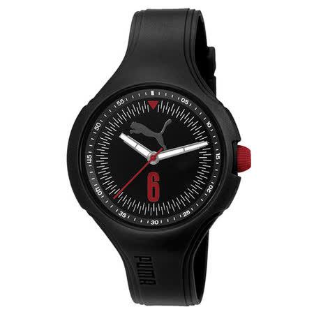 PUMA 突破重圍大錶徑時尚腕錶-灰黑