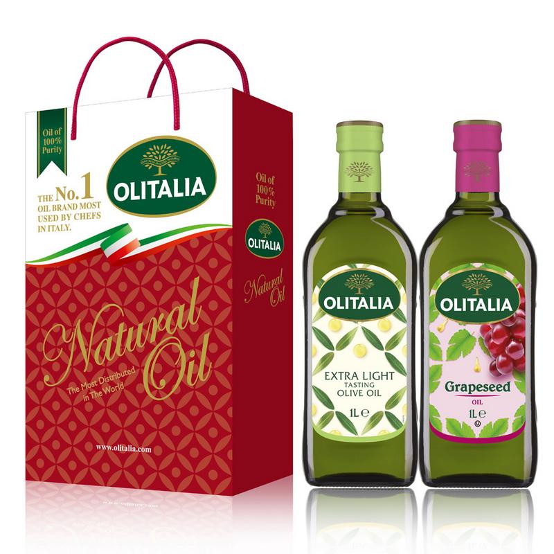 Olitalia奧利塔精製橄欖油+葡萄籽油禮盒組(1000mlx2瓶)