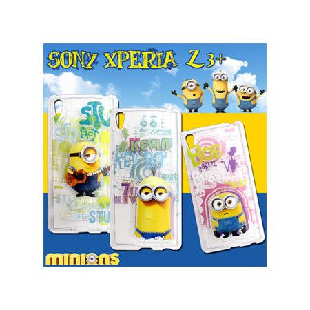 黃色小小兵Minions 正版授權 Sony Xperia Z3+(日本Z4國際版) 透明軟式保護套 手機殼(人物篇)