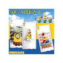 黃色小小兵Minions 正版授權 Sony Xperia Z3+(日本Z4國際版) 透明軟式保護套 手機殼(情境篇)