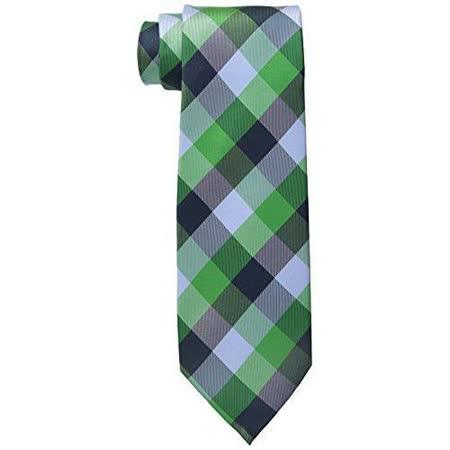 【Tommy Hilfiger】2015男時尚綠黑灰斜格紋領帶【預購】