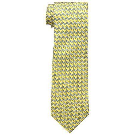 【Tommy Hilfiger】2015男時尚蜥蜴紋黃色領帶【預購】