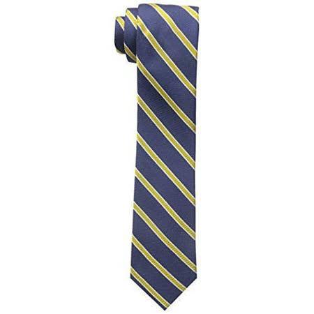 【Tommy Hilfiger】2015男時尚寶藍黃色斜條紋領帶【預購】