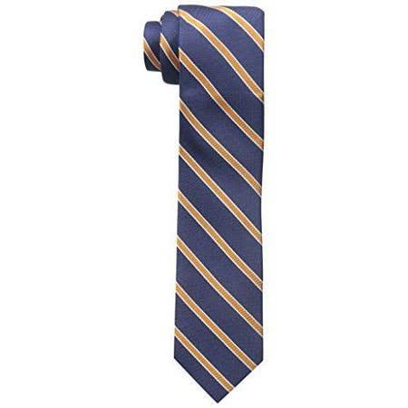 【Tommy Hilfiger】2015男時尚寶藍橙色斜條紋領帶【預購】