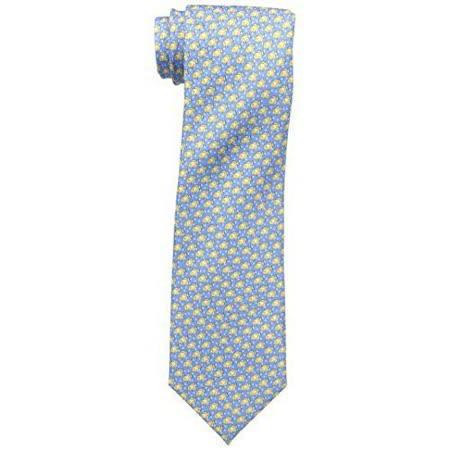 【Tommy Hilfiger】2015男時尚游魚圖騰水藍色領帶【預購】