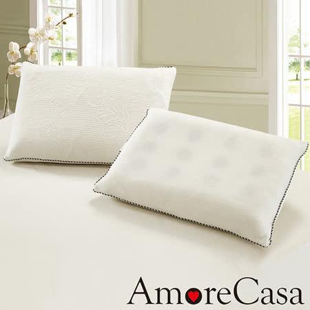 【AmoreCasa】台灣製造 平面科技乳膠獨立筒枕1入