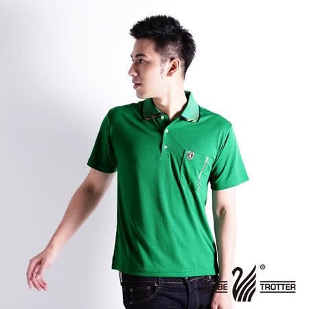 【遊遍天下】MIT台灣製男款抗UV涼爽吸濕排汗機能POLO衫S105綠