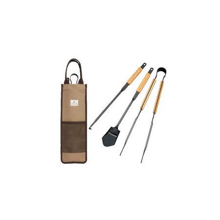 【日本 Snow Peak】 焚火台-專業工具組/附帆布收納袋(Fire Tool set Pro)_N-017R