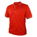 【遊遍天下】MIT台灣製男款抗UV涼爽吸濕排汗機能POLO衫S108紅