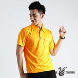 【遊遍天下】MIT台灣製男款抗UV涼爽吸濕排汗機能POLO衫S112黃