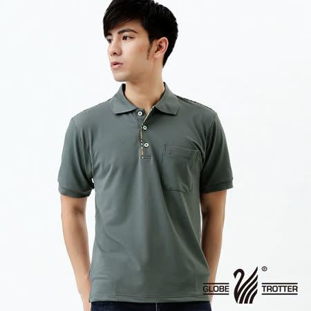 【遊遍天下】MIT台灣製男款抗UV涼爽吸濕排汗機能POLO衫S125灰
