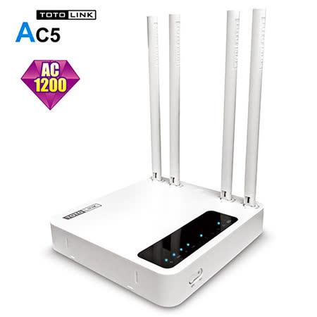 TOTOLINK 【AC5】 AC1200 超世代無線路由器