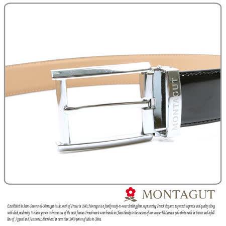 MONTAGUT夢特嬌-二層牛皮 針扣皮帶M894009