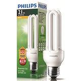 ★買一送一★飛利浦 3U21W省電燈泡-燈泡色