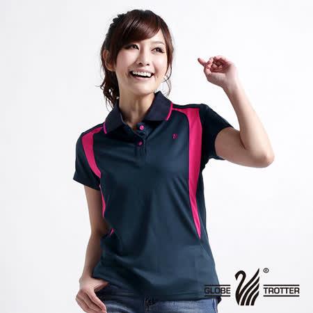 【遊遍天下】MIT台灣製女款抗UV涼爽吸濕排汗機能POLO衫5063丈青