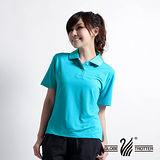 【遊遍天下】MIT台灣製女款抗UV涼爽吸濕排汗機能POLO衫S064海藍