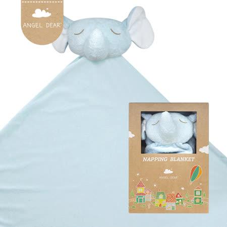 美國 Angel Dear 大頭動物嬰兒毛毯 (藍色小象)