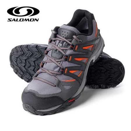 【索羅門 SALOMON】男新款 XR Shift Gore-Tex 防水透氣野跑運動鞋_淺灰/橘 327305