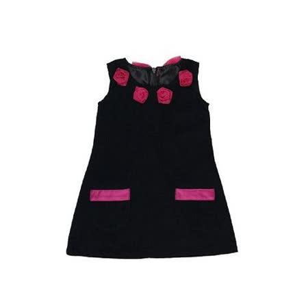 美國 RuffleButts 甜美小女童洋裝_優雅黑(RBD03)