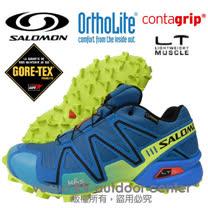 【索羅門 SALOMON】男新款 Speedcross 3 GTX M 輕量化戶外越野跑鞋.GORE-TEX.防水_水藍色 356753