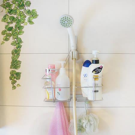 [百貨通]不鏽鋼蓮蓬頭吊掛置物架/沐浴用品/衛浴/雜物架