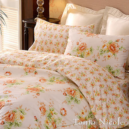 Tonia Nicole東妮寢飾瑰麗香檳精梳棉兩用被床包組(單人)