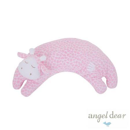美國 Angel Dear 曲線動物大枕頭 (粉紅長頸鹿)