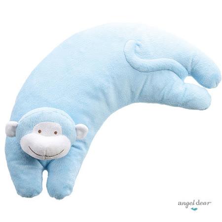 美國 Angel Dear 曲線動物大枕頭 (藍色小猴)