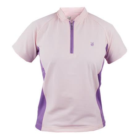 【遊遍天下】MIT台灣製女款抗UV涼爽吸濕排汗機能POLO衫S080淺紫