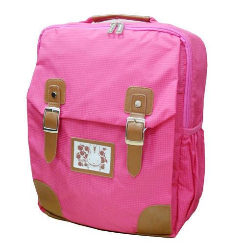 ~Miffy~米飛兔學院風護脊書包後背書包後背包~甜蜜粉