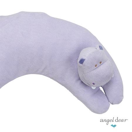 美國 Angel Dear 曲線動物大枕頭 (紫色河馬)