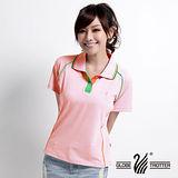 【遊遍天下】MIT台灣製女款抗UV涼爽吸濕排汗機能POLO衫S083粉紅