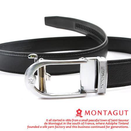 MONTAGUT夢特嬌-頭層牛皮 精品 自動扣皮帶845007