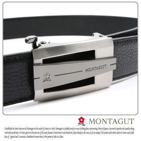 MONTAGUT夢特嬌-頭層牛皮 精品 自動扣皮帶845004
