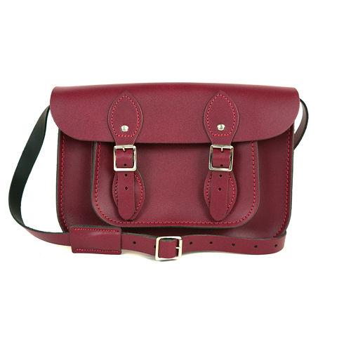 ~The Leather Satchel Co.~11吋 英國 牛皮劍橋包 肩背 側背包