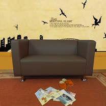 HAPPYHOME 小龐帝克二人座鐵腳沙發ZU5-1-2T四色可選