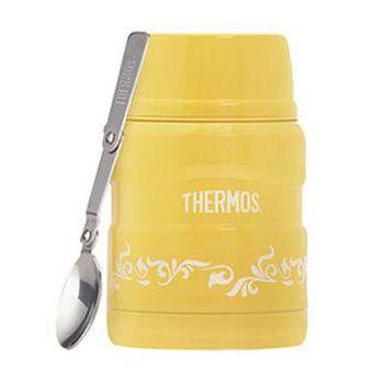 THERMOS膳魔師 不鏽鋼真空保溫悶燒罐470ml-檸檬歐蕾 SK3000