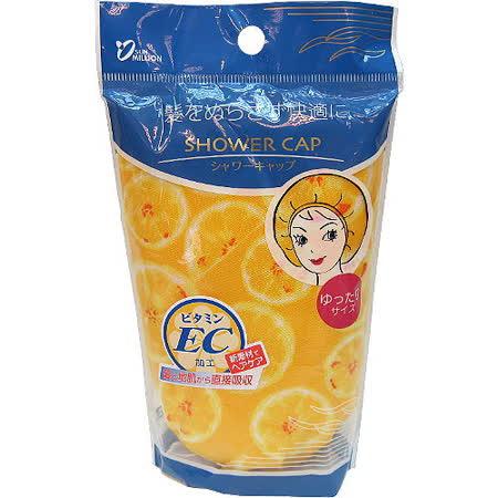 【波克貓哈日網】日本保濕浴帽◇維他命C、E◇《洗澡兼護髮》黃色