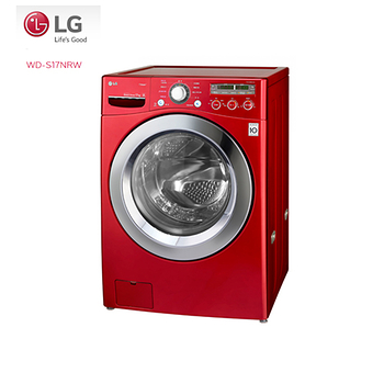 LG樂金  6 MotionDD蒸氣滾筒洗衣機 深艷紅/17公斤洗衣容量(WD-S17NRW) 含基本安裝
