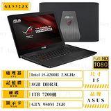 ASUS GL552JX-0081A4200H 15吋 FHD GTX950 獨顯效能筆電 送8G記憶體需自行安裝