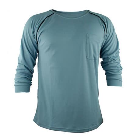 【遊遍天下】MIT台灣製男款運動休閒吸濕排汗機能POLO長衫L038灰