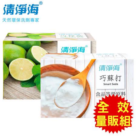 清淨海 食品級清潔全效量販組(小蘇打+檸檬酸)