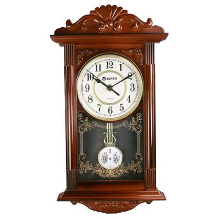 KINYO歐式復古鐘擺掃秒靜音掛鐘(CL-142)